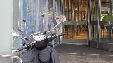 'Nooduitgang' van het winkelcentrum Stadshart.