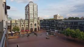 Avondschemer op Oostzijde vh Stadsplein.