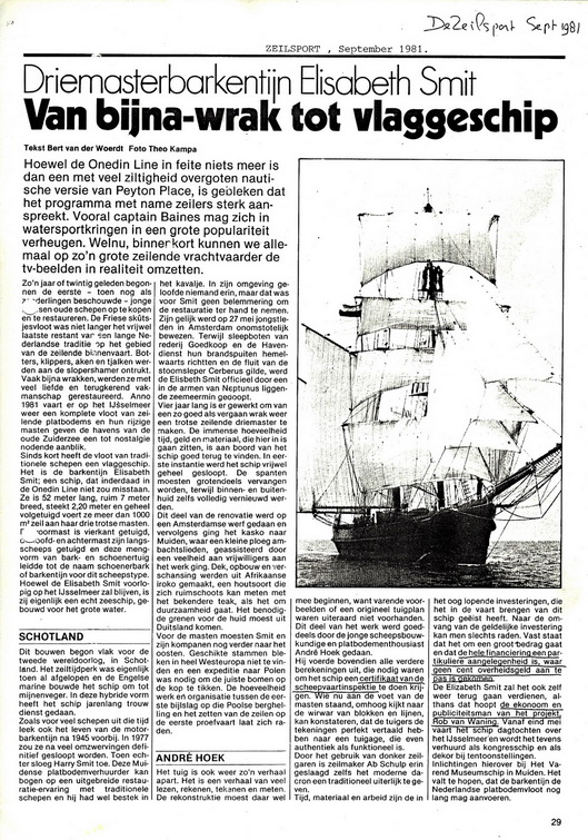 19810915 art SpZeilvaart - Van bijna-wrak tot vlaggeschip