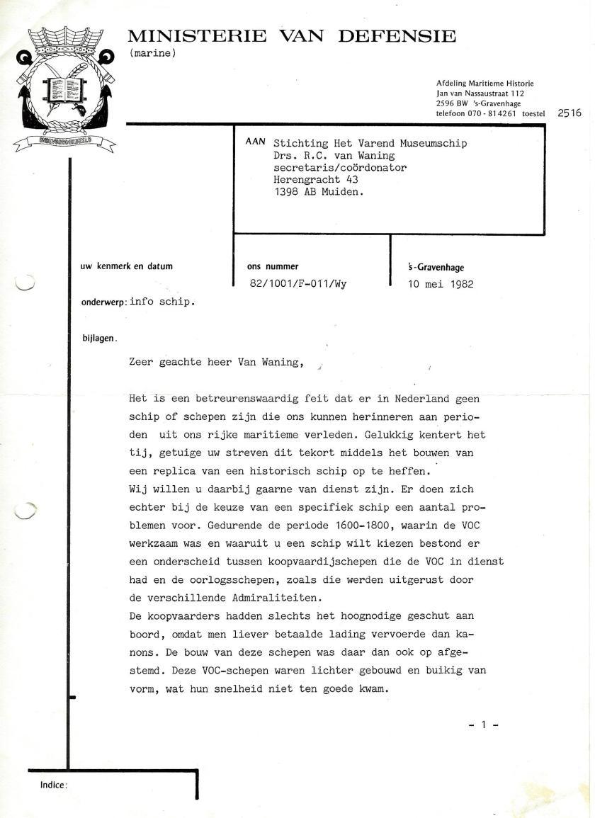 19820510 van MinDef Bureau Maritieme Historie pag1